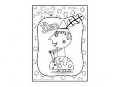 Print off this Ben colouring in picture from Ben & Holly's Little Kingdom, and let your child have fun colouring it in.