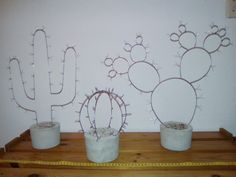 wire cactus in concrete planter. my favourite new diy project :)