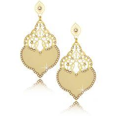 LK DESIGNS Banana Harem Earrings (5.940 RUB) ❤ liked on Polyvore featuring jewelry, earrings, accessories, brincos, orecchini, 18 karat gold earrings, swarovski crystal stud earrings, yellow jewelry, studded jewelry and yellow earrings