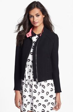 Milly Chunky Zipper Jacket available at #Nordstrom