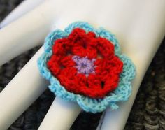 Flower Power Adjustable Ring by hollyshobbiesncrafts for $3.00