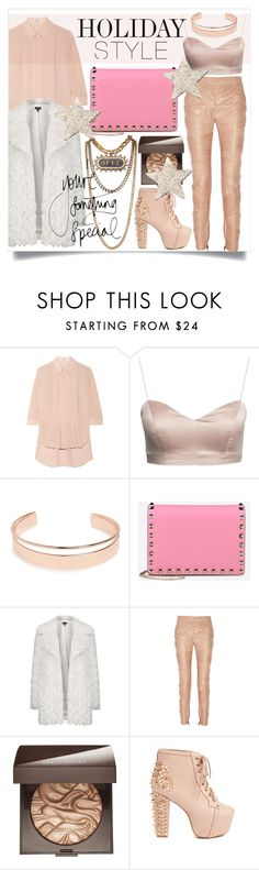 """Holiday Style: Leather Pants"" by miee0105 ❤ liked on Polyvore featuring Mode, Kenzo, Lanvin, Leith, Valentino, Topshop, Laura Mercier und Jeffrey Campbell"