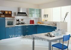 Blue white kitchens on pinterest pale yellow kitchens - Cocina blanca y azul ...