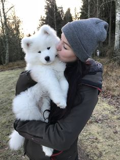 Dogs that are treated properly have the best temperaments and they hold no reservations in showing the love they have received. 5 Ways How To Show Your Dog Love Baby Animals Pictures, Funny Animals, Beautiful Dogs, Animals Beautiful, Samoyed Dogs, Cute Dogs And Puppies, Big Dogs, Doggies, Fluffy Dogs