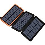 Buy Solar Charger FEELLE Solar Power Bank with 2 USB Ports Waterproof Portable External Battery Compatible with Smartphones, Tablets and Portable Solar Power, Portable Solar Panels, Solar Energy Panels, Portable Battery, Portable Charger, Solar Panel Charger, Solar Panel System, Gifts For Boaters, Solar Phone Chargers