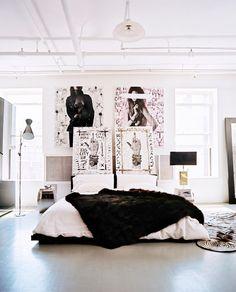 Love this design style. / Home Tour: A Pro Skateboarder's Artistic New York Loft via @domainehome / #decor #nyc #design