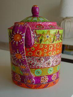 ♥•✿•♥•✿ڿڰۣ•♥•✿•♥ ♥   Hand painted tea pot by Nini Violette  ♥•✿•♥•✿ڿڰۣ•♥•✿•♥ ♥