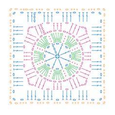Crochet Granny Square Pattern Chart