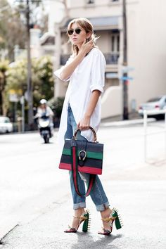 Liven Up Your White Button-Down With Statement Accessories