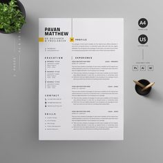 Clean, Modern and Professional Resume and Letterhead design. Fully customizable easy to use and replace color & text. Give an employer a great first impression and help you land your dream job. Cover Letter For Resume, Cover Letter Template, Cv Template, Letter Templates, Cover Letters, Templates Free, Cv Design, Resume Design, Graphic Design