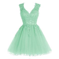 JAEDEN V Neck Short Cocktail Dresses Appliqued Lace Homecoming Dress... (160 SEK) ❤ liked on Polyvore featuring dresses, green homecoming dresses, homecoming dresses, green lace dress, short cocktail dresses and short prom dresses