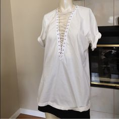 Emma and Sam lace up tee New with tags LF Tops