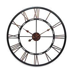 From traditional to contemporary, update your decor with the Infinity Instruments 28-Inch Roman Numeral Metal Fusion Wall Clock. The beautiful timepiece features welded Roman numerals accented with hand painted detailing.