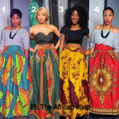 Maxi Skirts...African Fashion
