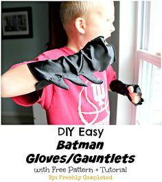 DIY Easy Batman Gauntlet Gloves (Free Pattern   Tutorial)
