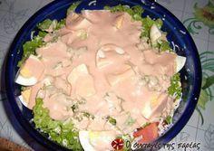 Σαλάτα του σεφ η αυθεντική Cookbook Recipes, Sweets Recipes, Salad Recipes, Cooking Recipes, Food Network Recipes, Food Processor Recipes, The Kitchen Food Network, Ceasar Salad, Dips