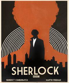 """ Sherlock Poster Remake (inspired by x) "" Sherlock Holmes Bbc, Sherlock Fandom, Funny Sherlock, Sherlock Season, Sherlock Moriarty, Sherlock Quotes, Vintage Movies, Vintage Posters, Illustrations"