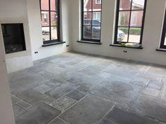 Stone Kitchen Floor, Kitchen Flooring, Flagstone Flooring, Belgian Style, Tile Floor, Entrance, Tiles, Windows, Patio