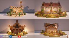 Minecraft Roof, Minecraft Cottage, Cute Minecraft Houses, Minecraft Structures, Amazing Minecraft, Minecraft House Designs, Minecraft Construction, Minecraft Blueprints, Minecraft Creations