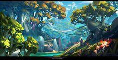 Secret~4, G liulian on ArtStation at https://www.artstation.com/artwork/b03dG