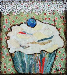 """For Sale: Roll Me Away Blueberry  by Drew Noel Trombley   $100   7""""w x 7""""h   Original Art   http://www.vangoart.co/buy/art/roll-me-away-blueberry--2 @VangoArt"""