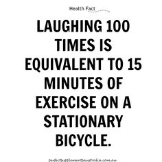 Now, there's more reason for you to laugh! http://www.factslides.com/s-Health #perfectsuppsaus