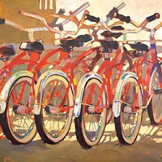 Portfolio Canvas Decor Large Printed Canvas Wall Art Painting 35 by 35Inch Retro Bikes Framed and Stretched Ready to Hang >>> Continue to the product at the image link. (This is an affiliate link)