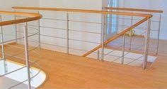 metal c wood railing