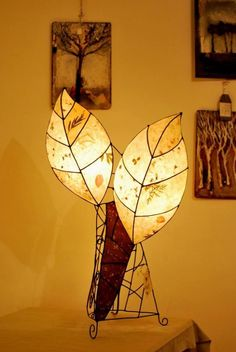 "Hand made Lamp ""Two leaves"""