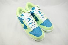 Brand New Womens Nike Dunk Low Size 11 Turquoise Lime 317813 431 #Nike #Athletic