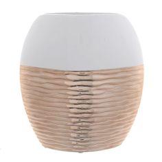 Βάζο Λευκό-Χάλκινο 21Χ8Χ24 INART Google Home, Vase, Home Decor, Interior Design, Vases, Home Interior Design, Home Decoration, Decoration Home, Interior Decorating