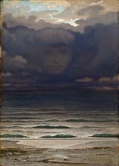Elihu Vedder (American; 1836–1923)MemoryOil on mahogany panel, 1870Los Angeles County Museum of Art (LACMA), Los Angeles, California