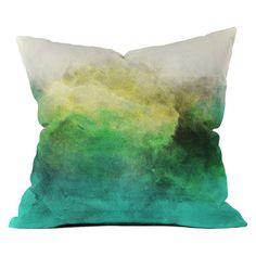 DENY Designs Allyson Johnson Peacock Ombre Throw Pillow - 50580-OTHRP16