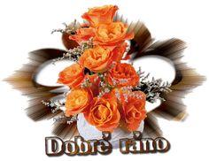 Dobré ráno obrázky, citáty a animace pro Facebook - ObrazkyAnimace.cz Grapevine Wreath, Grape Vines, Floral Wreath, Food And Drink, Table Decorations, Emoji, Blog, Facebook, Quotes