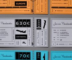 Attractive Ticket Designs