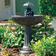 Charming Solar Water Fountain by CarlsPatio.com #solarfountain #waterfountain #patiofurniture