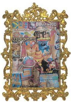 mood board for bollywood theme party