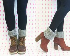 FREE crochet boot cuff pattern | These cozy ribbed crochet boot cuffs can be made so quickly!
