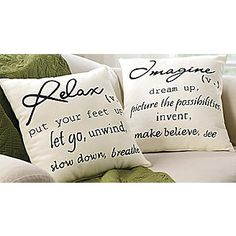 1000+ images about Cute pillows with sayings on Pinterest Burlap pillows, Throw pillow sets ...