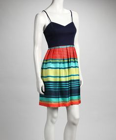 Take a look at this CYNTHIA STEFFE Hibiscus Stripe Dress by CYNTHIA STEFFE on #zulily today!