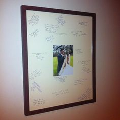 Photo Frame Alternative Wedding Guest Book on eBay!