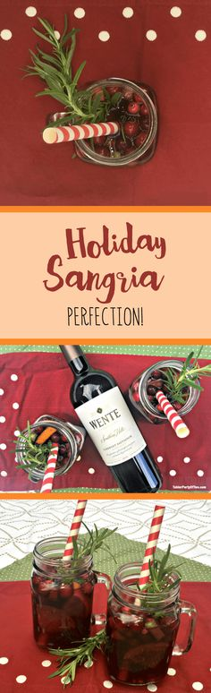 OMG! This holiday sangria is truly perfection fresh, delicious fruit combines with crisp cabernet and sparkling apple cider to make a holiday cocktail that will please your party! TablerPartyOfTwo.com