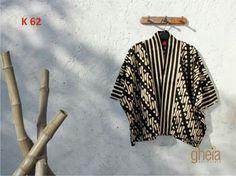 Hgv Kebaya Hijab, Batik Kebaya, Blouse Batik, Batik Dress, Batik Fashion, Fashion Sewing, Blouse Patterns, Blouse Designs, Kimono Design