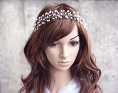 Pearl bridal headpiece Headpiece bridal Wedding by ArsiArt on Etsy