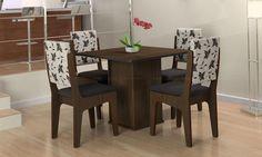 Conjunto para Sala de Jantar com mesa e 4 cadeiras Atour