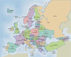 Ciencias Sociales IES Emilio Manzano.: Mapa político de Europa. Países y capitales.