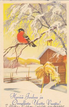 Olavi Vikainen Christmas 2017, Christmas And New Year, Christmas Cards, New Year Card, Illustrators, Bird, Heaven, Painting, Beautiful
