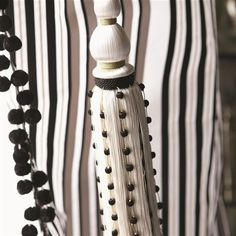 cordoni tie back - black and white trimming | Designers Guild