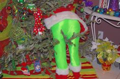 My whoville lime green Grinch in a tree is finished!  DIY  Image of what I saw on pintrest. Thank you flor posting such great ideas