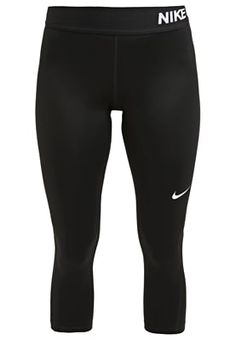 NIKE PRO DRY - 3/4 Sporthose - black/white